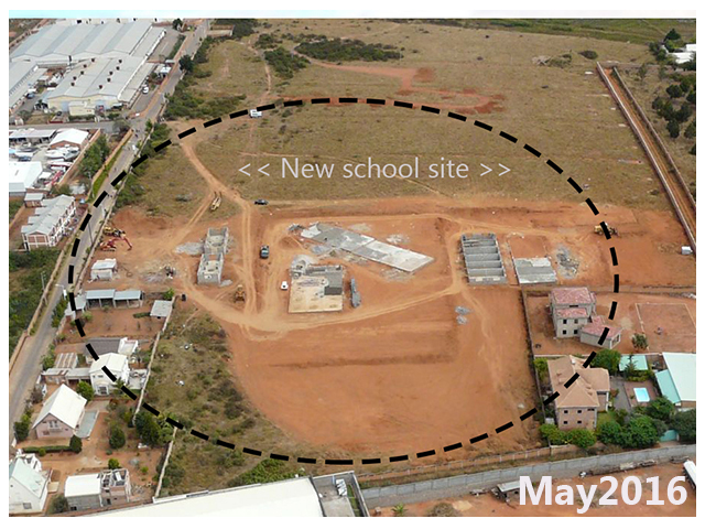 building progress, school site 3