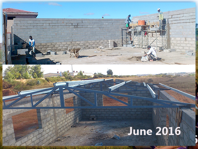 building progress, school site 6