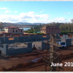 building progress, school site 6-8