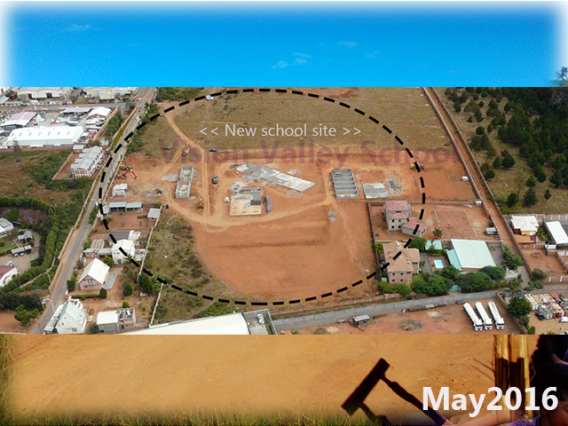 building progress, school site 4