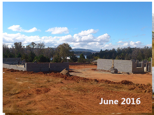 building progress, school site 6-4