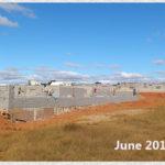 building progress, school site 6-7