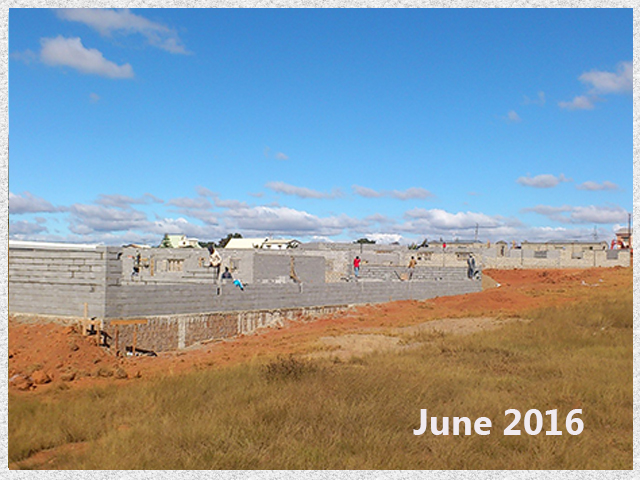 building progress, school site 6-7