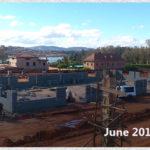 building progress, school site 6-8