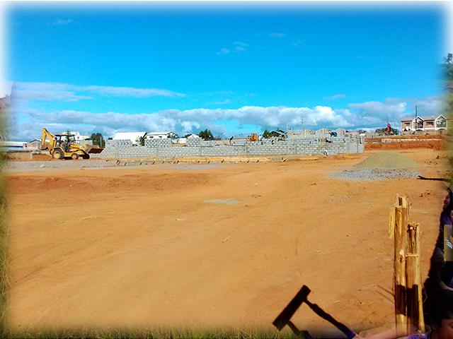 building progress, school site